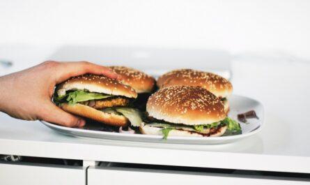 Přejídání může zapříčinit třeba konzumace spousty hamburgerů.